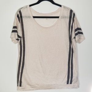 Madewell S Banded Linen T-Shirt Top 0266